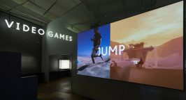 Photo of screen showing video game Jump