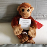 TravelPerk toy monkey