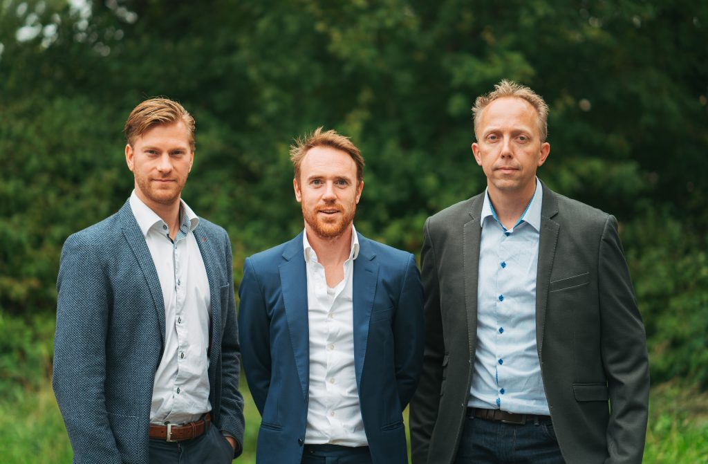 Meatable CTO Daan Luining (left), CEO Krijn De Nood (centre) and Head of R&D Ruud Out (right). Credit: Meatable.