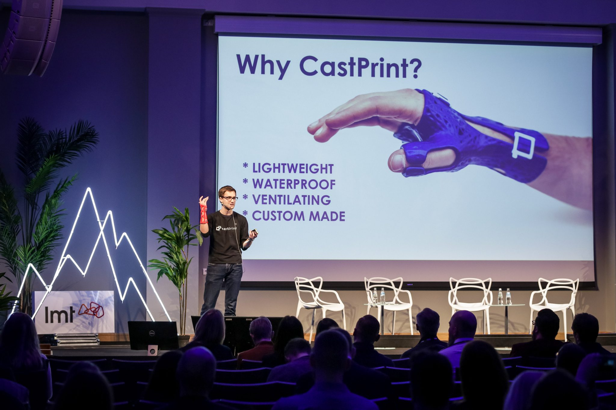 Krogorns pitching at TechChill 2019. Credit: Lauris Vīksne.