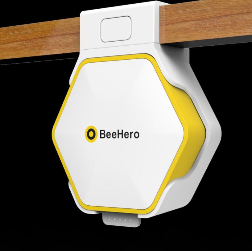 A BeeHero smart hive sensor.