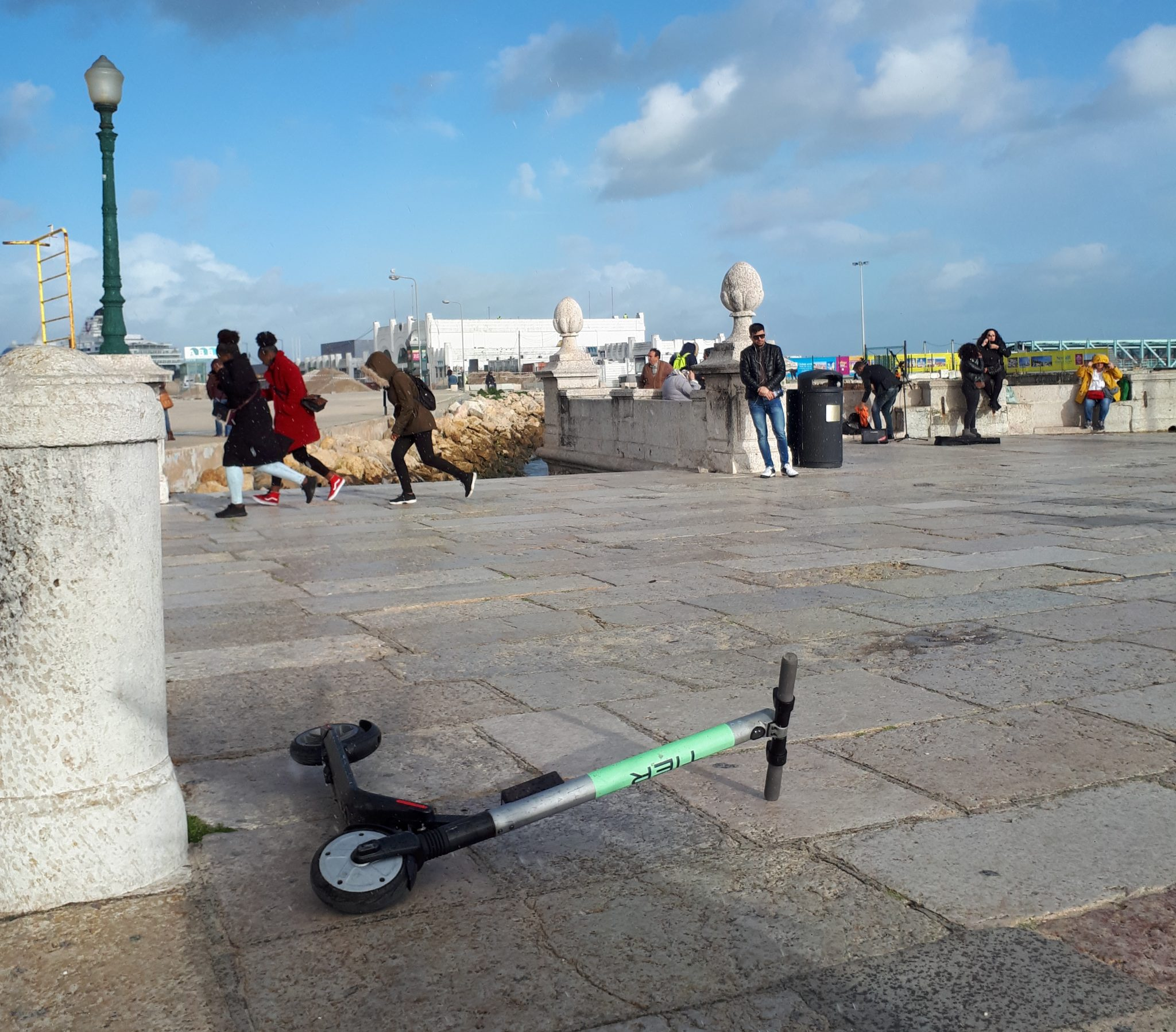 A Tier scooter in Lisbon.