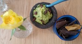 Grasshoppers in guacamole at Santo Remedio in London