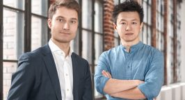 Photo of Johannes Reck (left) and Tao Tao, two of the four founders of GetYourGuide.