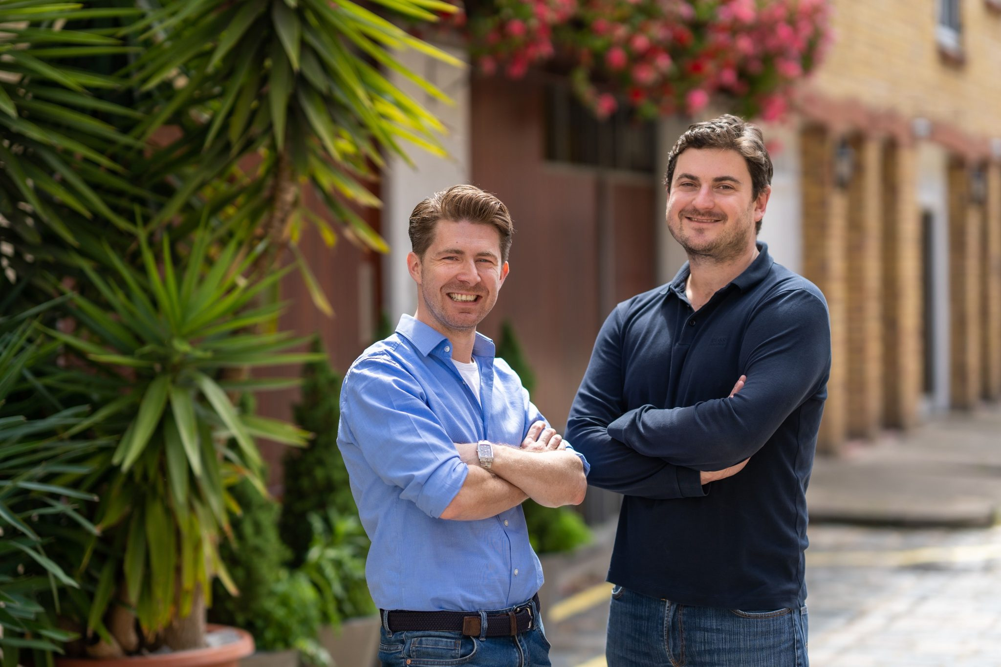 Photo of Echo's CEO Roger Hassan (left) and cofounder Stephen Bourke, who previously launched at Lloyds Pharmacy online in Ireland and Australia.