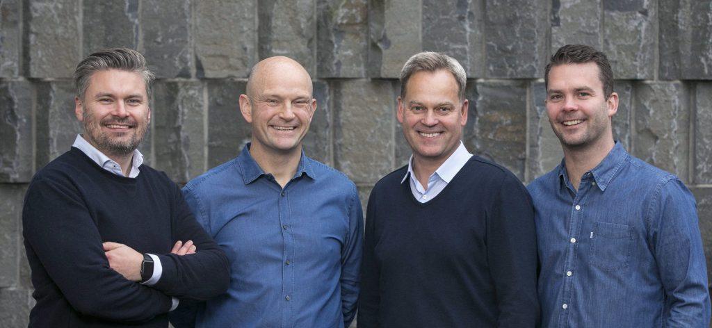Group picture of the Monerium founders Hjörtur Hjartarson, Sveinn Valfells, Jón Helgi Egilsson and Gísli Kristjánsson