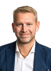 Headshot of Peter Carlsson, the Chief Executive of Northvolt.