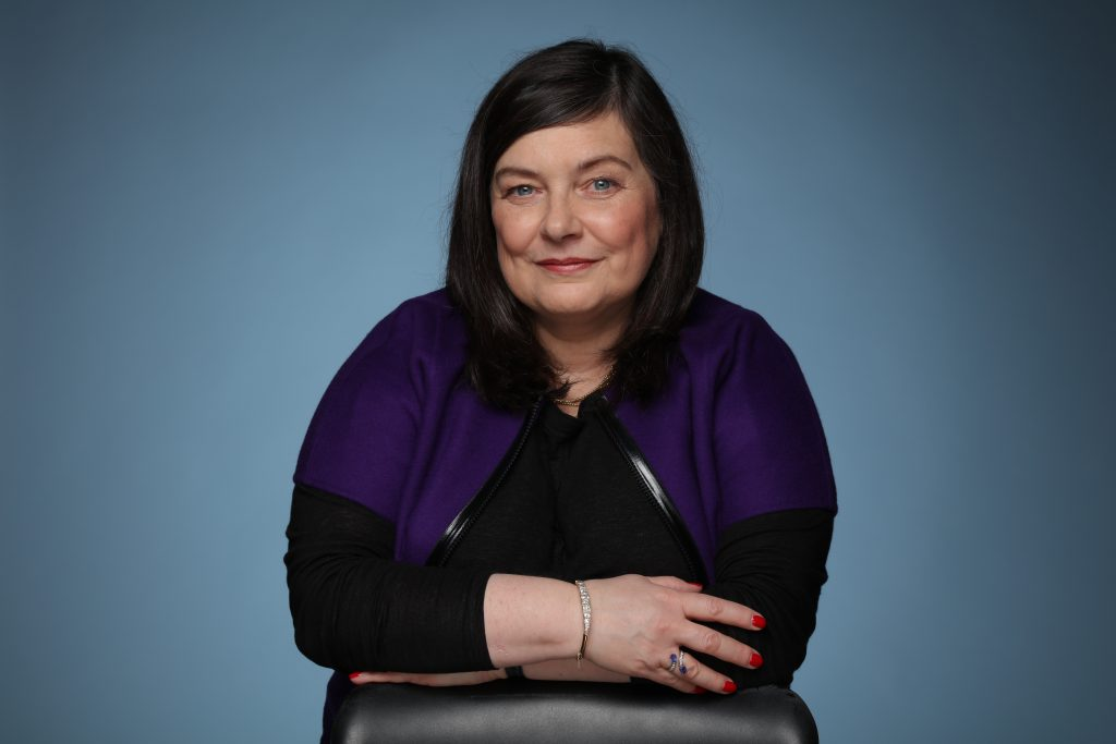 Portrait of Anne Boden, founder of UK online bank Starling