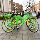 Lime bikes in London