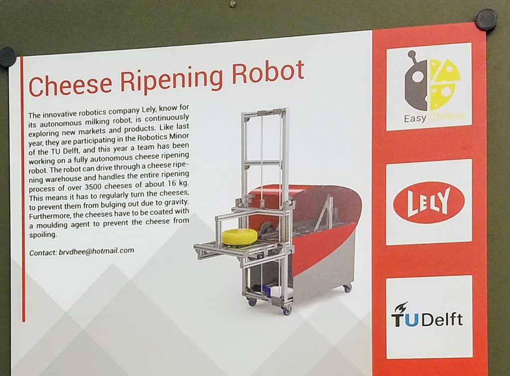 Cheese-flipping robot built for Lely