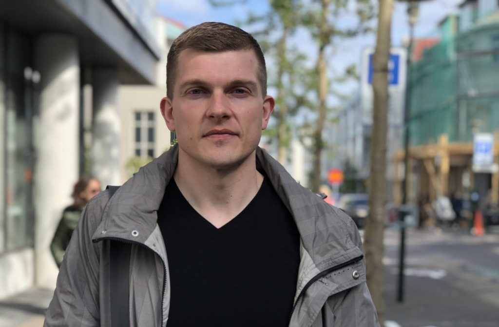 Image of Daniel Jonsson, a large scale cryptocurrency mining specialist at Eldar mining in Reykjavik
