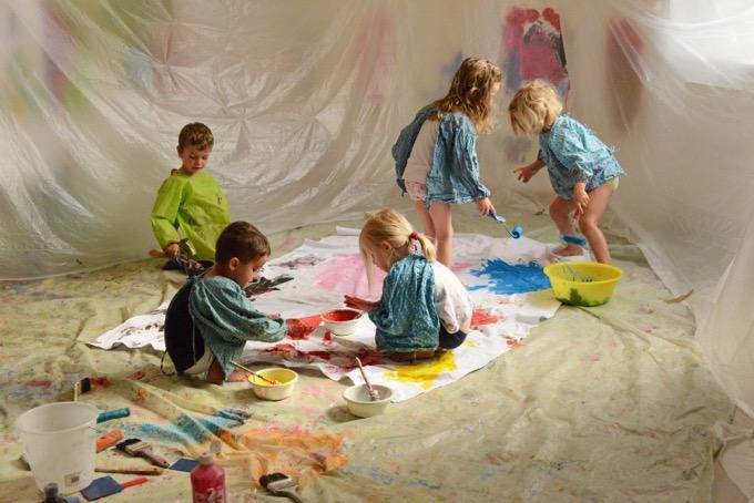 Children at the JuggleHub preschool.