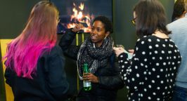 Photo of networking event at TechHub