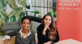 Riya Pabari and Asha Haji, co-founders of Founders Academy
