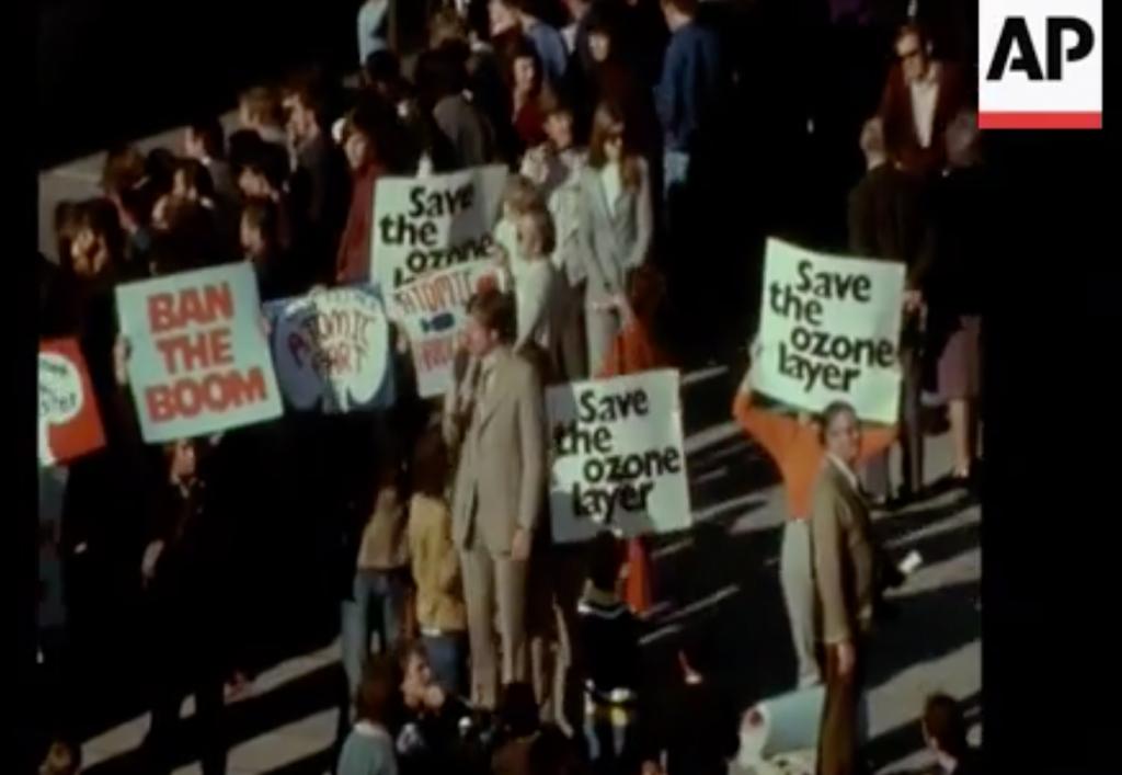 Concorde protestors, 1972