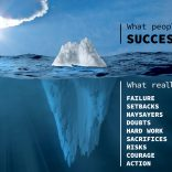 The iceberg of success