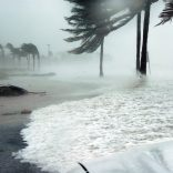 Beach in a hurricane