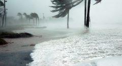 Beach in a hurricane