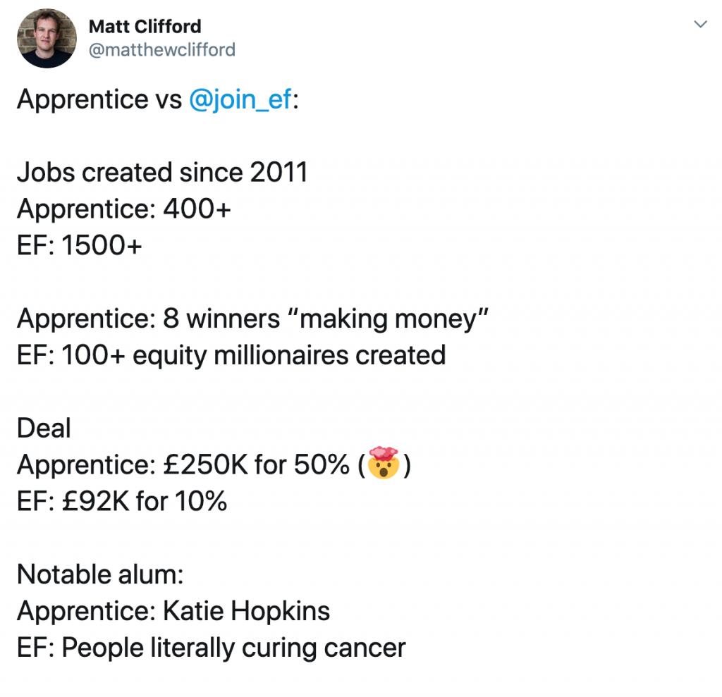 Matt Clifford Tweet