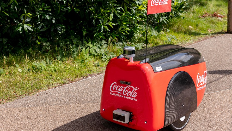 Coca-cola delivery robot