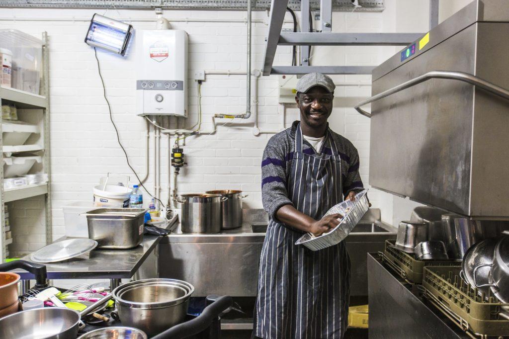 Photo of Karma Kitchen porter Bright inside the rental kitchen space.