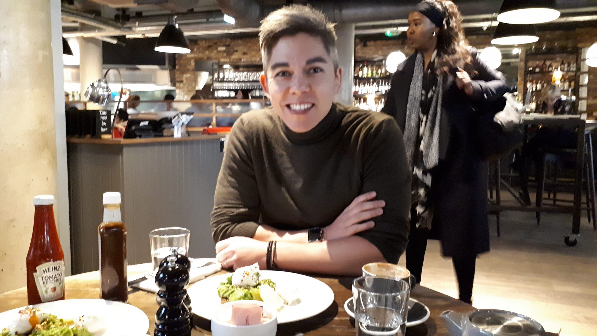 Photo of GoCardless founder Hiroki Takeuchi at brunch with Sifted.