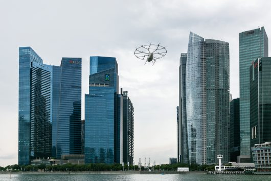 Volocopter flight in Singapore
