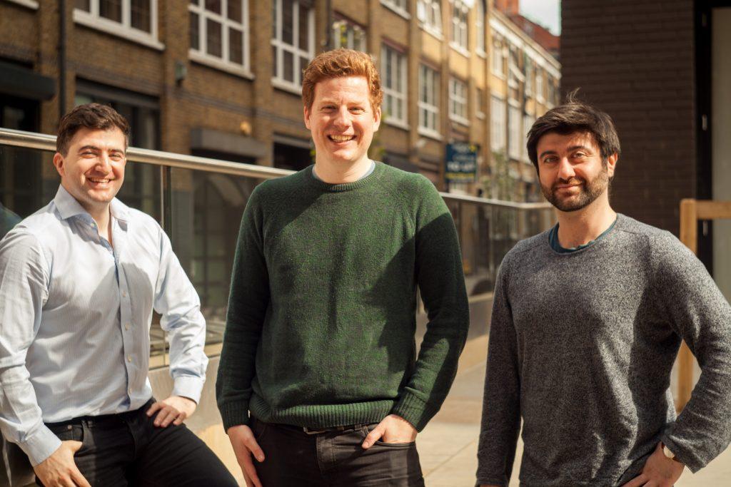 Beamery founders: (l-r) Abakar Saidov, Mike Paterson, Sultan Saidov