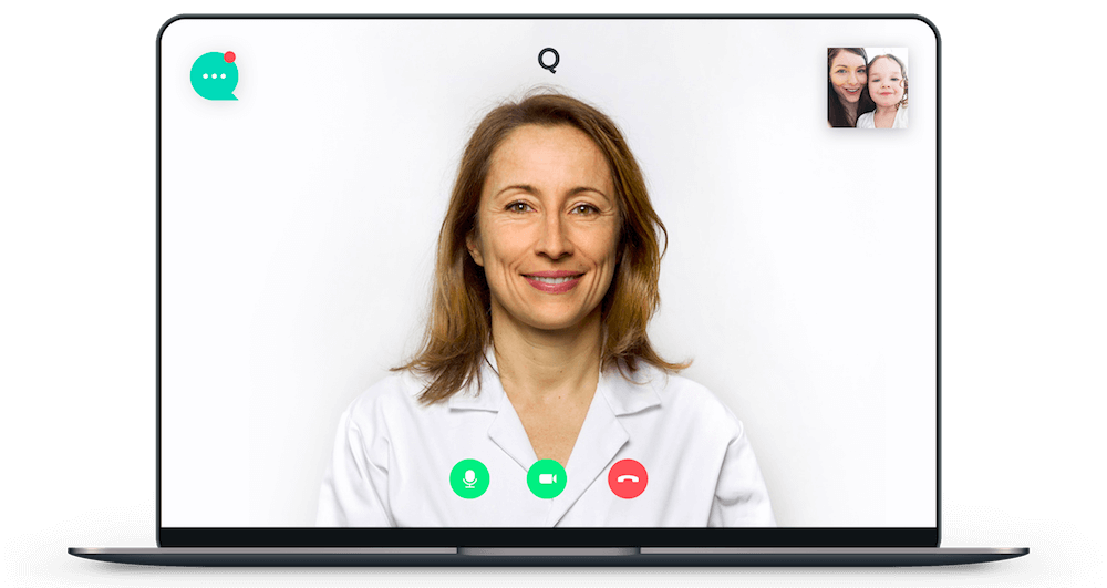 Picture of a digital doctor's appointment by Qare