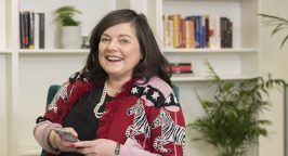 profile image of anne boden ceo of starling in her office
