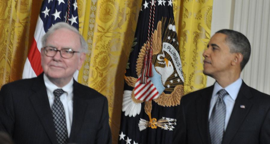 Warren Buffett and Barack Obama