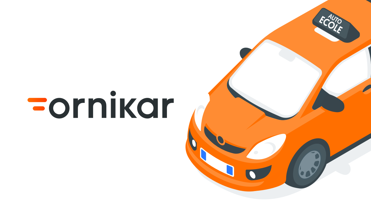 picture of Ornikar logo with car