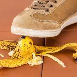 Shoe banana peel insurance
