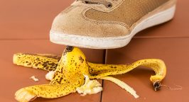 Shoe banana peel insurance