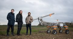 Small robot company tech team and the Tom robot