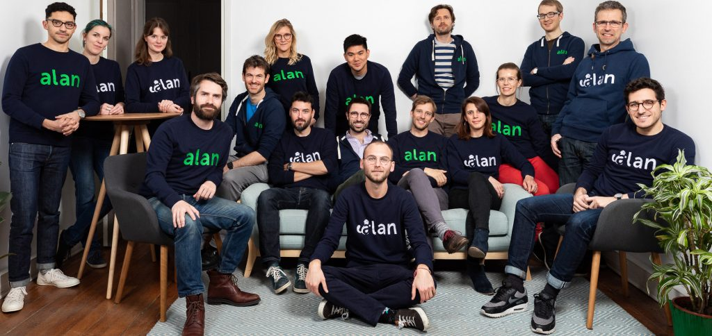 Photo of team at European startup Alan