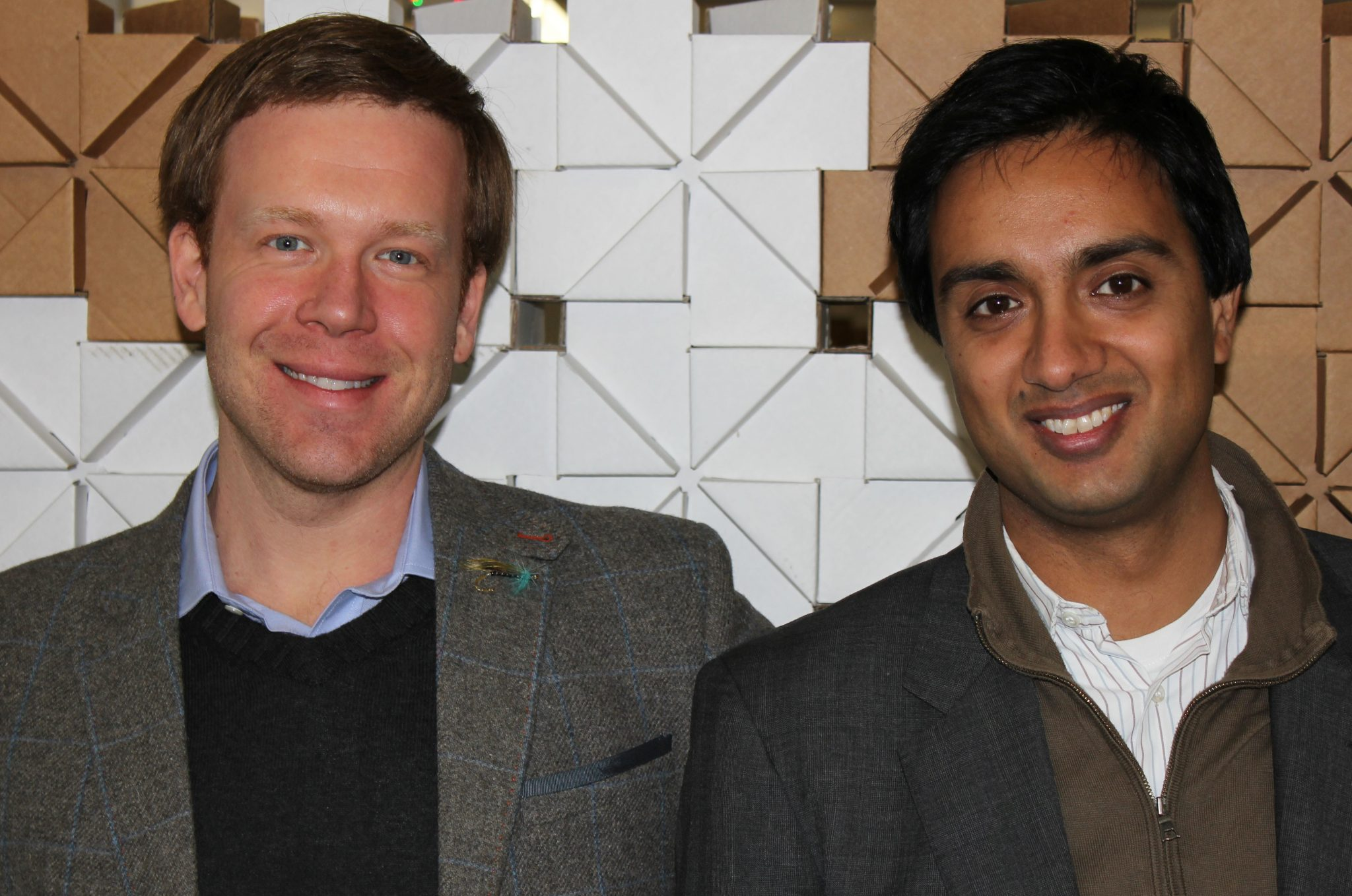 Photo of partners at Hoxton Capital, Rob Kniaz and Hussein Kanji.