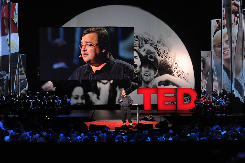 Reid Hoffman giving a TED talk