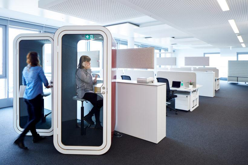 According to Framery, its booths contribute to more productive and happier employees.