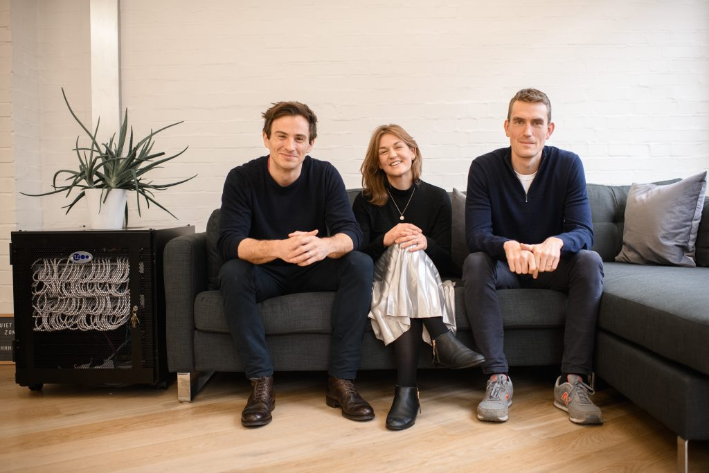 Photo of Pando cofounders Barney Gilbert Lydia Yarlott & Philip Mundy