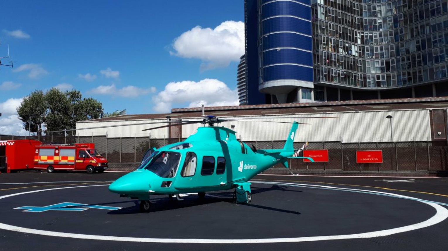 Photo of Deliveroo Helicopter