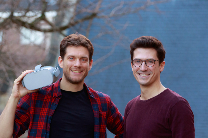 Pyslaris cofounders Mike Verhiel and Christoph Psularis