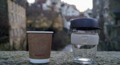 Photo of vegware and keepcup cups