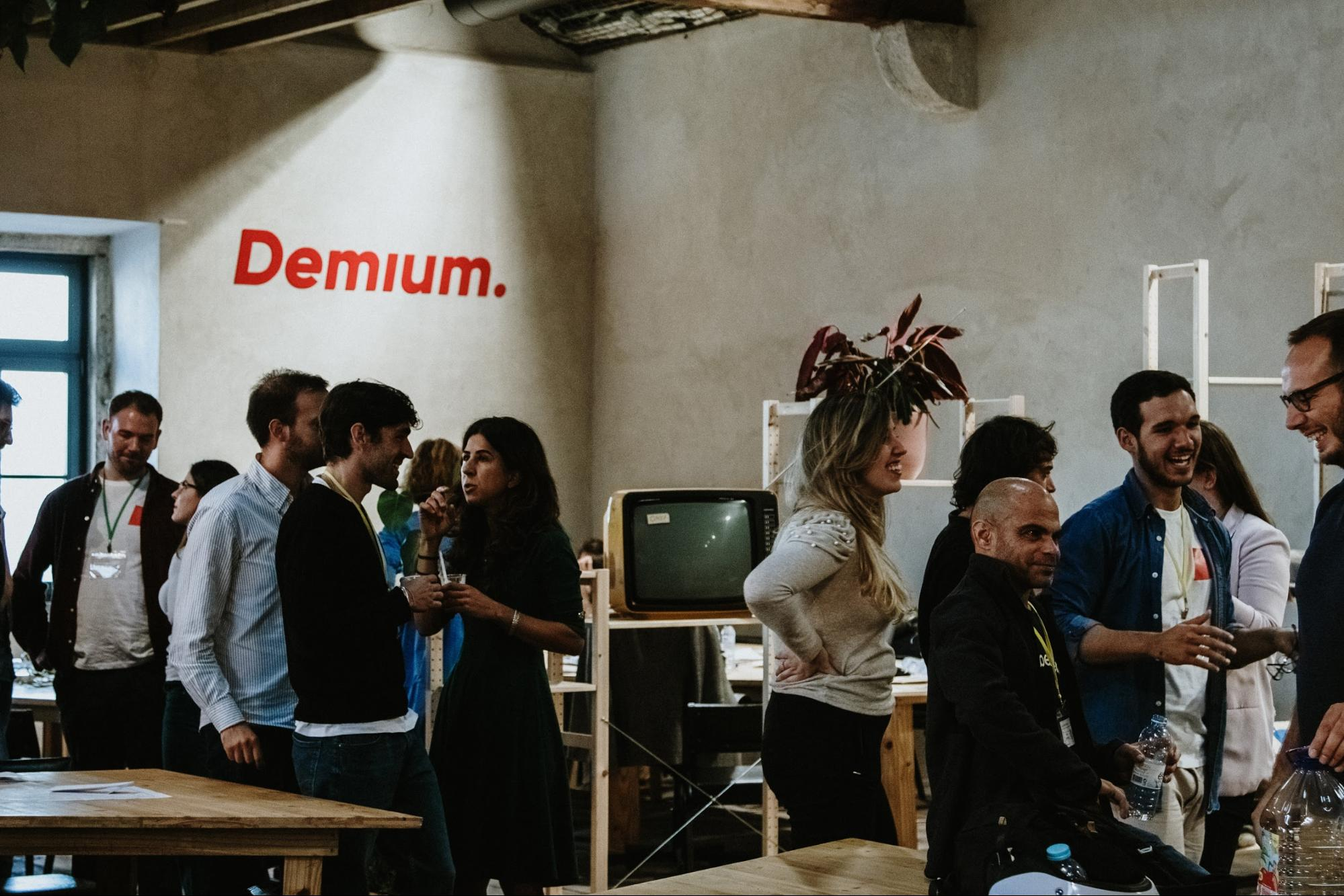 A meetup event at Demium's Lisbon hub