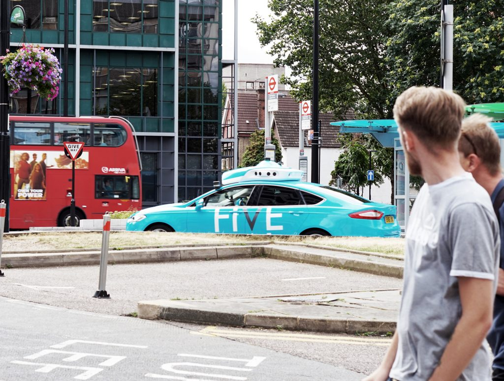 Photo of One of FiveAI's vehicles driving in London