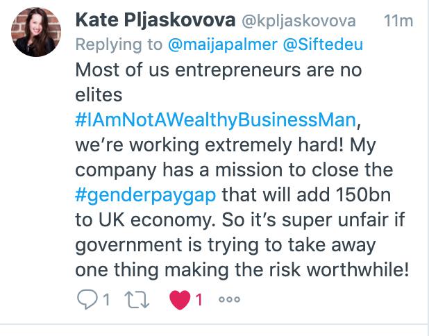 Kate Pljaskovova tweet
