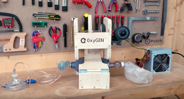 Picture of OxyGen emergency ventilator prototype
