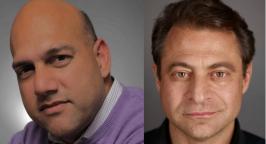 Headshots of Salim Ismail and Peter Diamandis