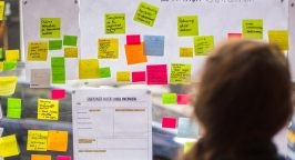 Image of post-it notes at Newspeak House