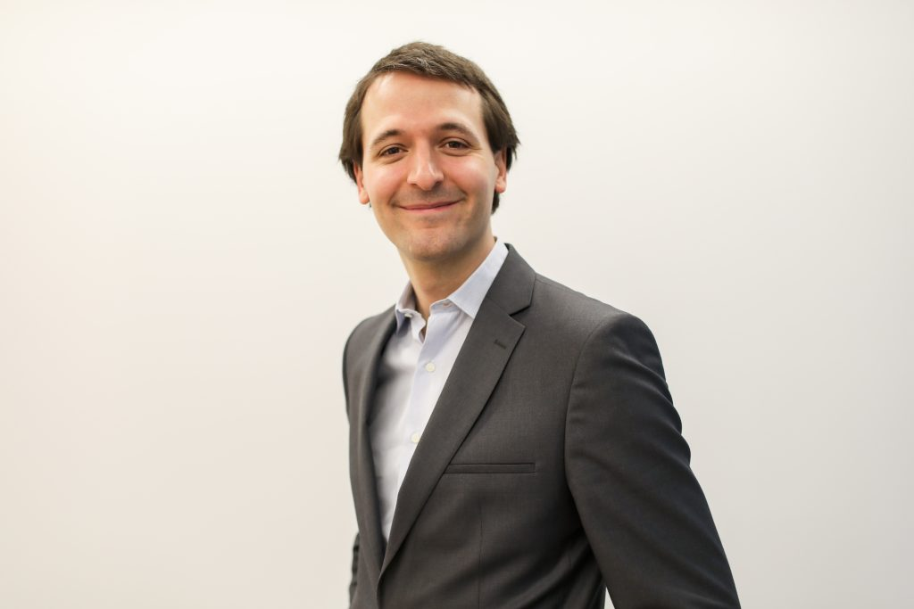 A portrait of Doctolib founder and chief executive Stanislas Niox-Chateau